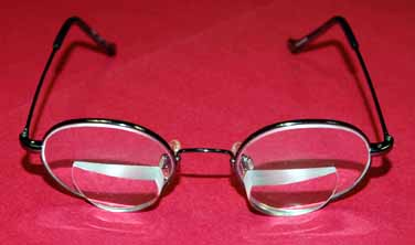 photo of Matthew's glasses