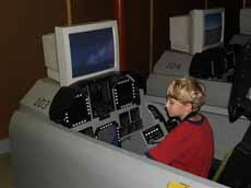 Matthew at space camp